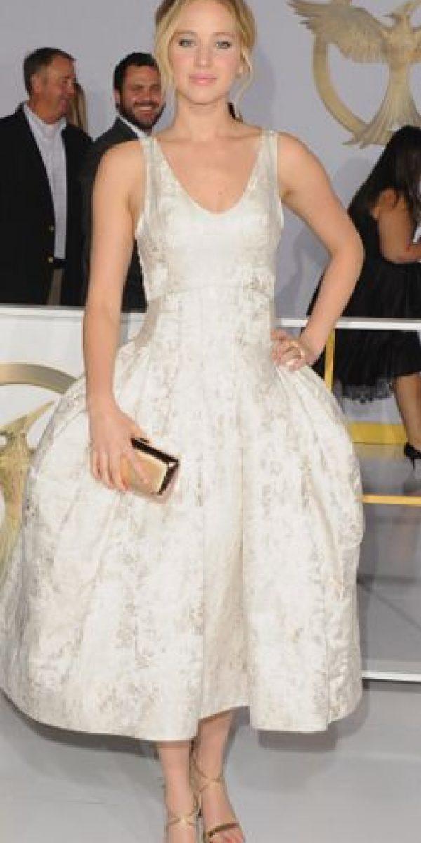 Lawrence impactó en 2011 por primera vez en los Óscar. Foto:vía Getty Images