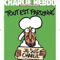 """2. Je Suis Charlie. Esta portada se publicó el 14 de enero de 2015, una semana después del ataque. El lema """"Je Suis Charlie"""" creado por el director de arte de la revista, Joachim Roncin, fue adoptado por los partidarios a la libertad de expresión y se utiliza como resistencia a las amenazas armadas. Foto:Fuente Externa"""