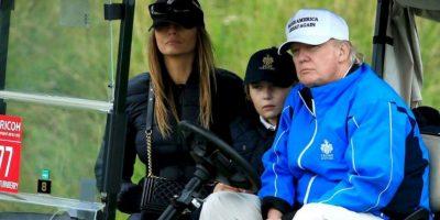 Según declaró Melania, la tercera esposa de Trump, Barron es más parecido a su padre. Foto:Getty Images