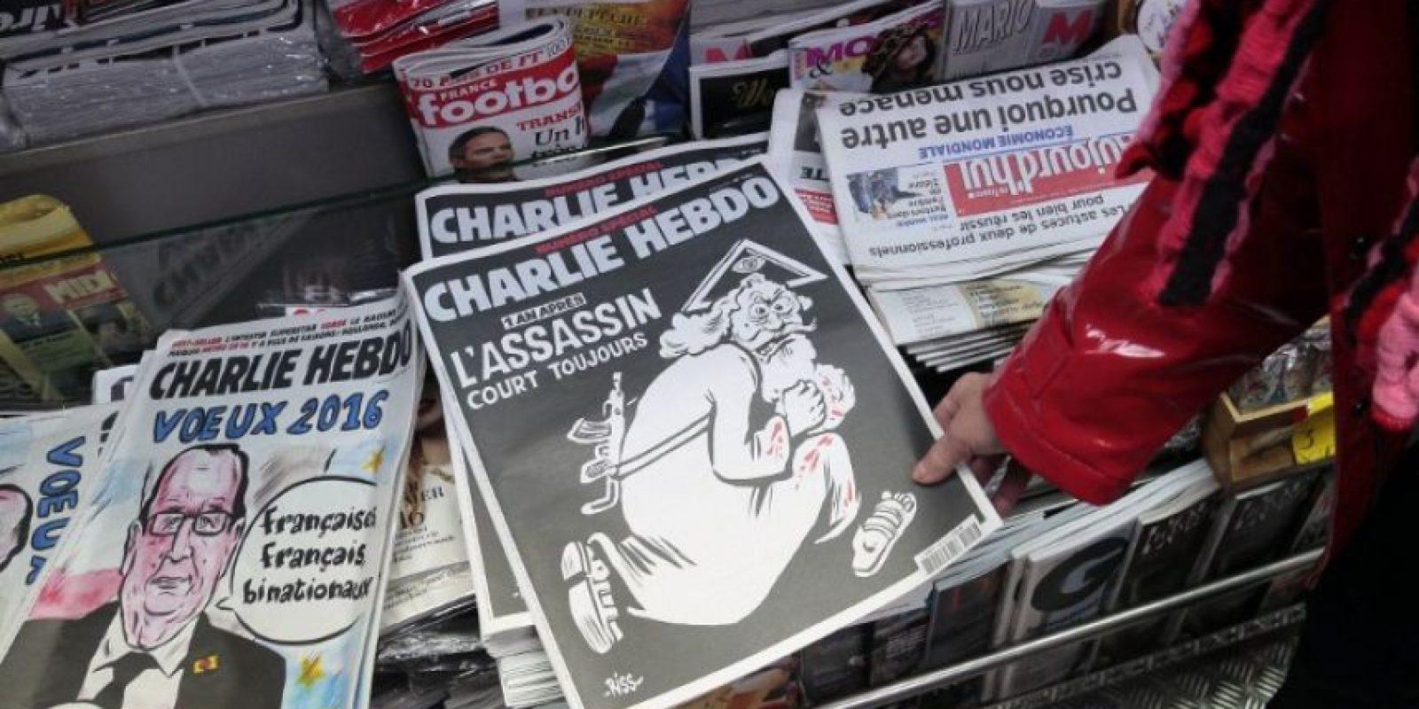 Esta fue la portada que la publicación lanzó como edición especial por el aniversario. Foto:AFP