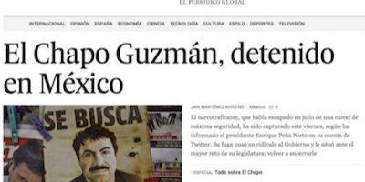 """Medios internacionales destacan la recaptura de """"El Chapo"""" Guzmán"""