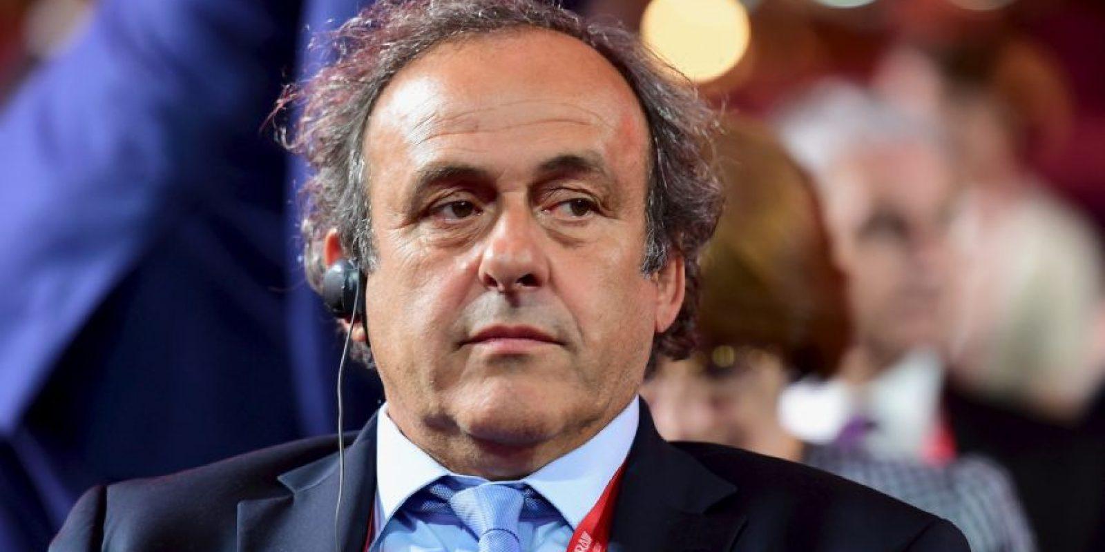 """3. Michel Platini. El expresidente de la UEFA también fue de los """"caídos"""" en octubre y tuvo que dejar el cargo en el organismo europeo. Foto:Getty Images"""