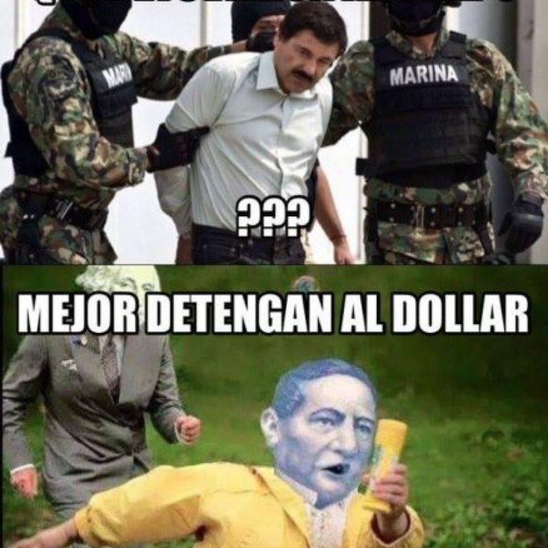 O a la subida del dólar. Foto:vía Twitter