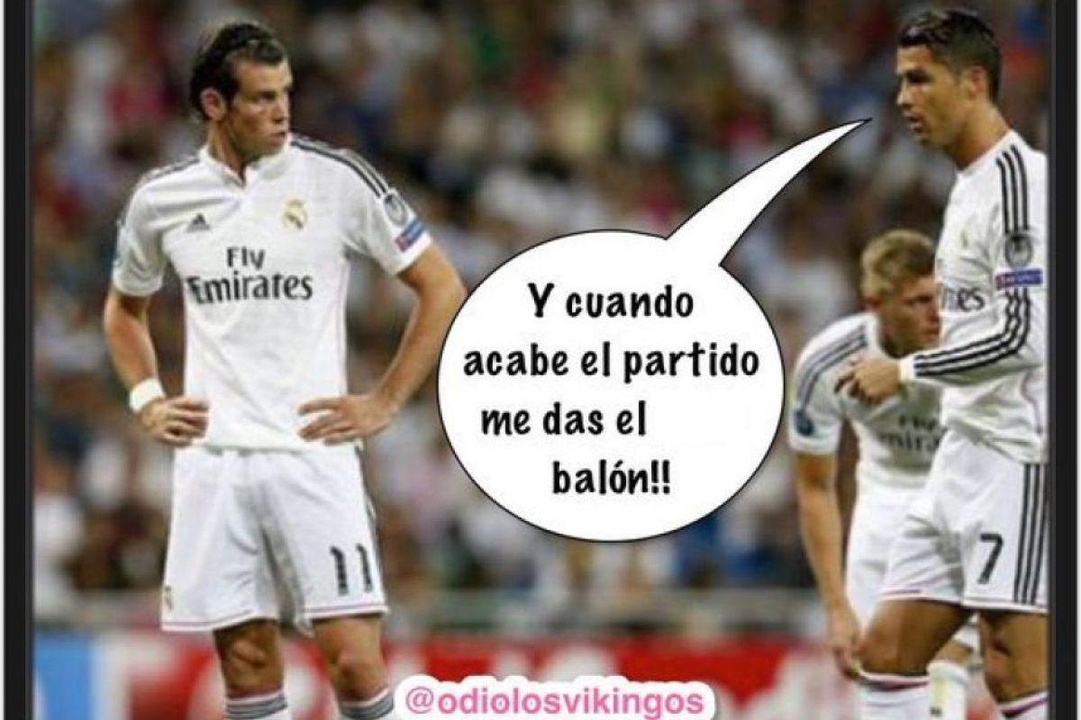 Y Bale anotó un triplete. Foto:Vía twitter.com/odiolosvikingos