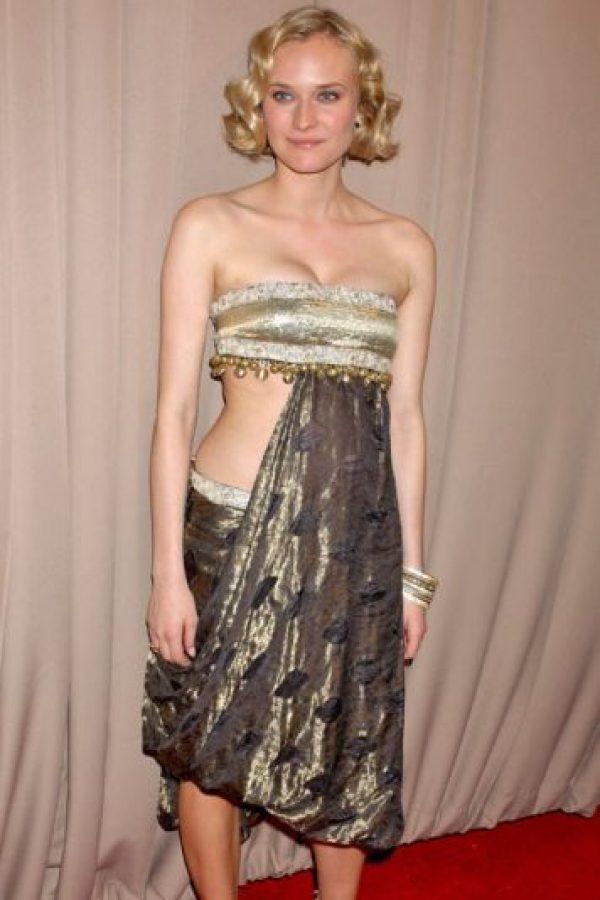 Esto era cuando Diane Krugger no se sabía vestir. Fue en 2002. Foto:Getty Images