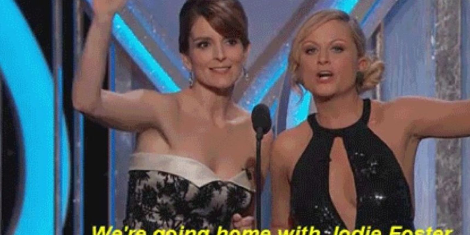 No paró ahí: Ante el discurso abiertamente gay de Jodie Foster también bromearon. Foto:NBC