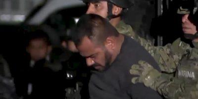 """Le capturaron junto con su jefe de sicarios, el """"Cholo Iván"""". Nombre real: Orso Iván Gástelum Cruz. Foto:vía Twitter"""