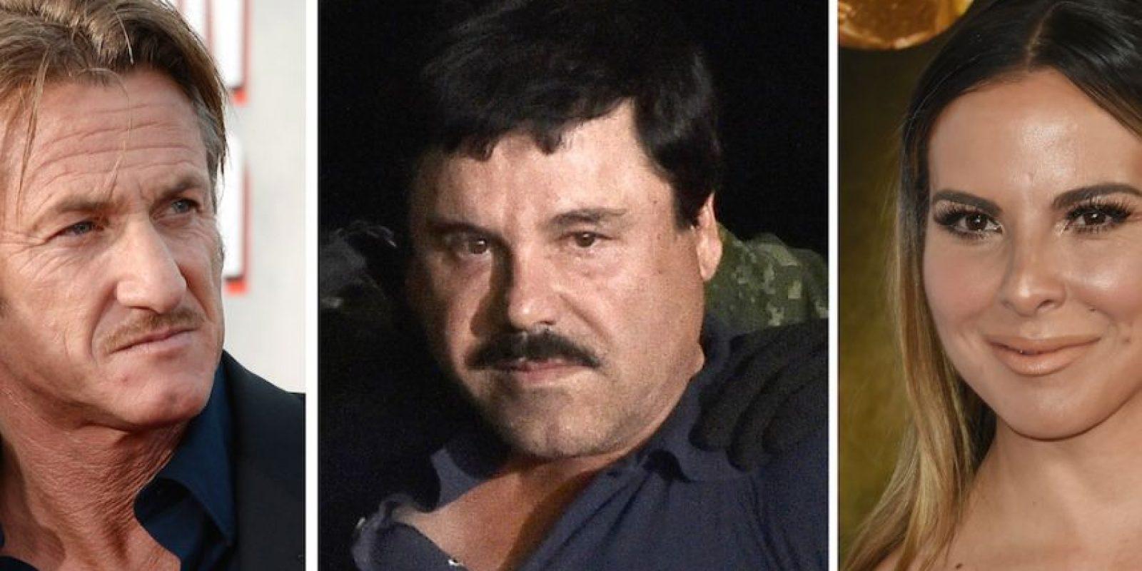 """Por medio de Kate del Castillo, Penn logró el contacto del """"Chapo"""" y se reunió con él en suelo mexicano. Foto:AFP"""