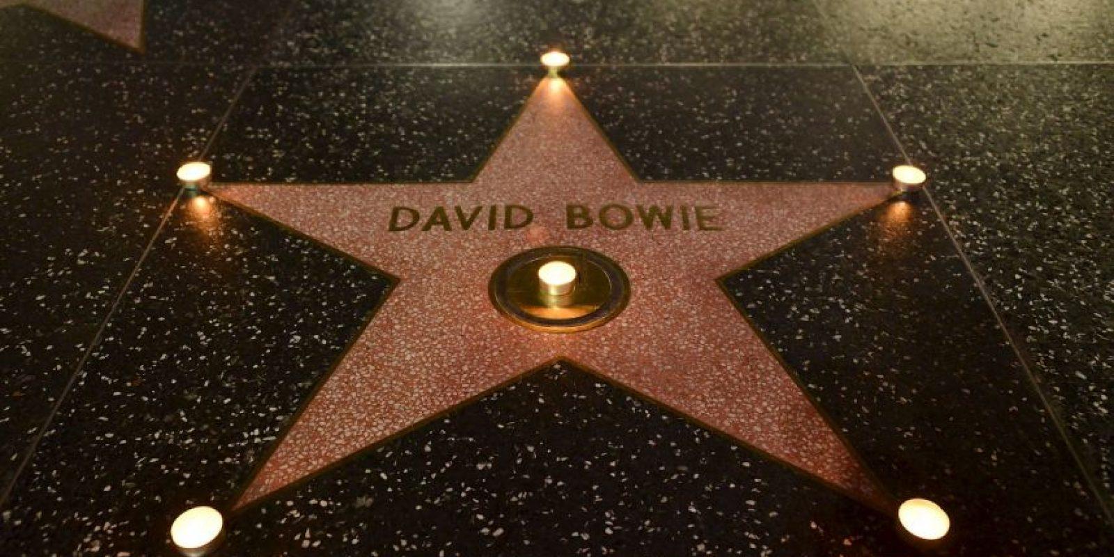 Bowie es homenajeado en el Paseo de la fama de Hollywood. Foto:AFP