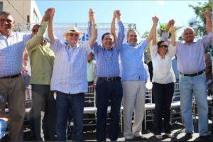 Dirigentes del PRM proclaman a Milcíades Franjul como candidato a senador por Peravia Foto:Fuente Externa