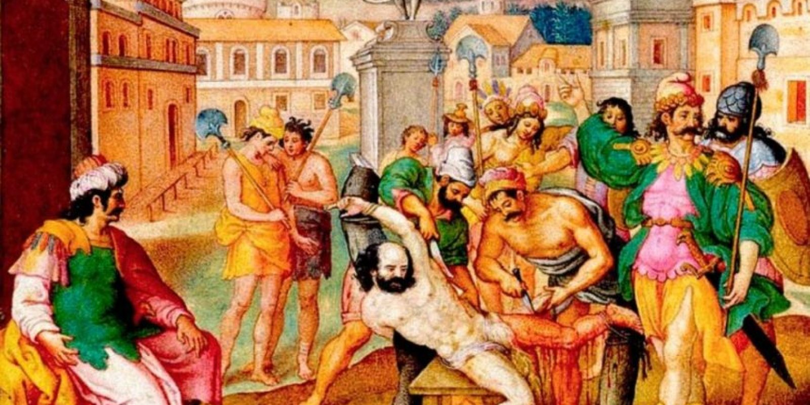 También se despellejaba al sujeto después de muerto. Foto:vía Wikipedia