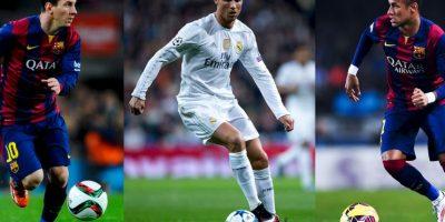La terna está compuesta por Lionel Messi, Cristiano Ronaldo y Neymar Foto:Getty Images