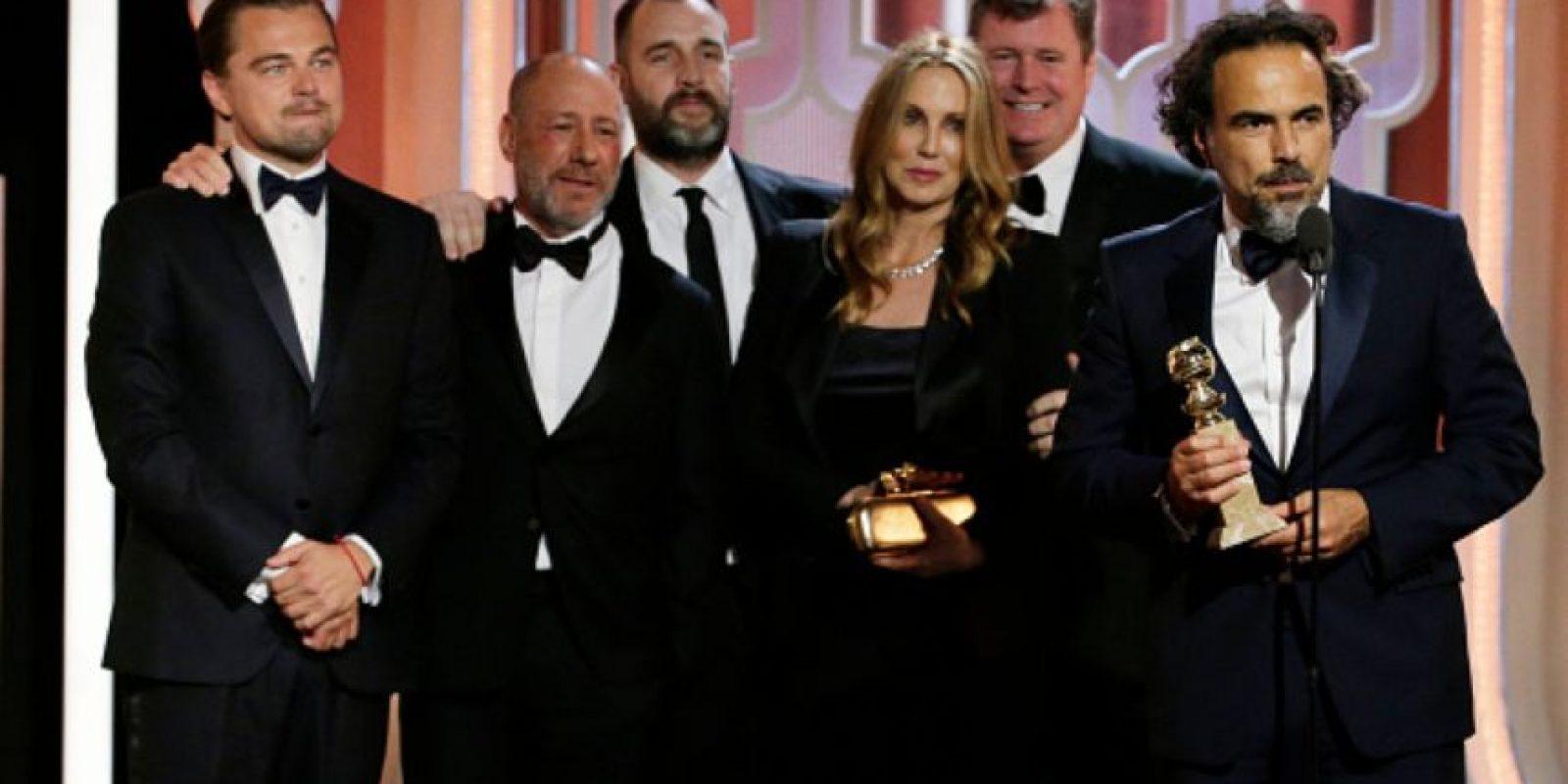 "Alejandro González Iñárritu ganó el premio a ""Mejor Película Dramática"" por ""The Revenant"": Foto:vía Getty Images"