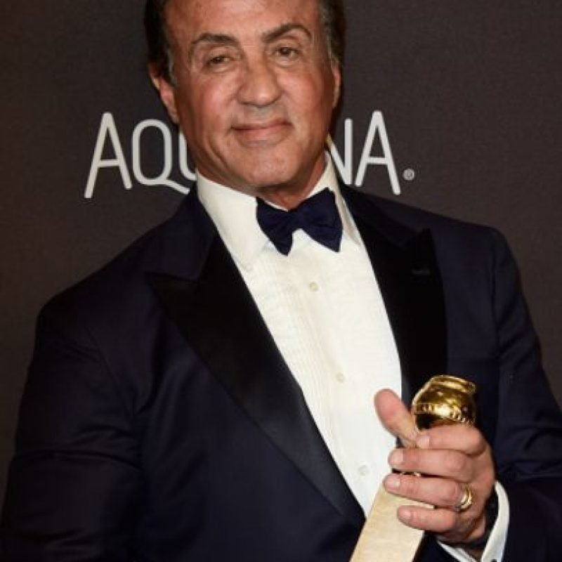 "Sylvester Stallone ganó como ""Mejor Actor de Reparto"" por ""Creed"". Foto: vía Getty Images"