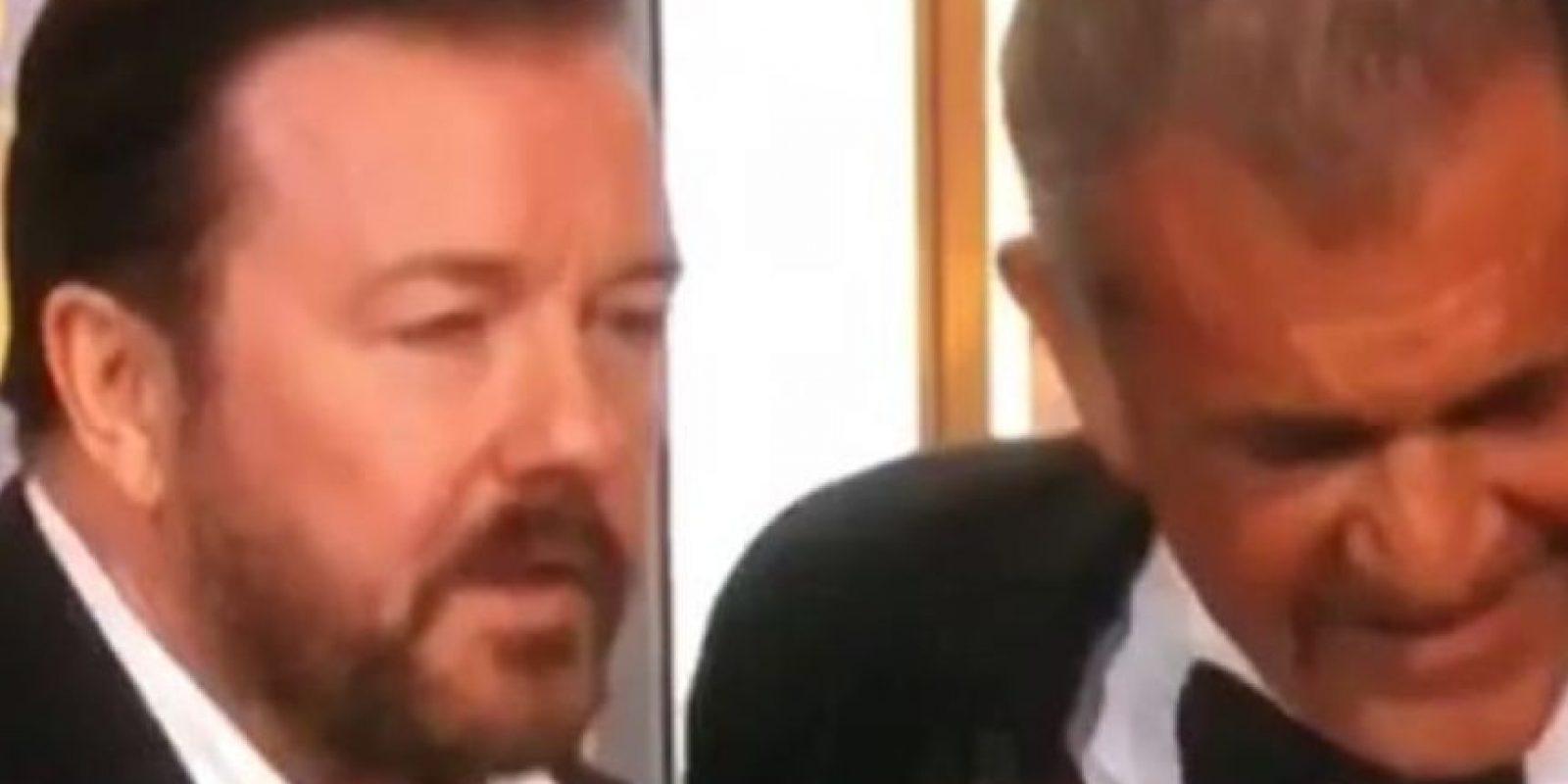 Ricky Gervais estuvo con Mel Gibson. Foto:vía Twitter