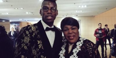 Paul Pogba al lado de su madre Foto: Getty Images
