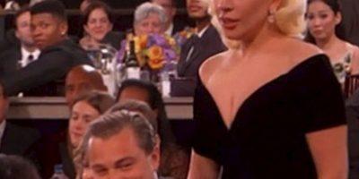 DiCaprio y Gaga protagonizaron uno de los momentos incómodos de la noche. Foto:Vía Twitter/NBC