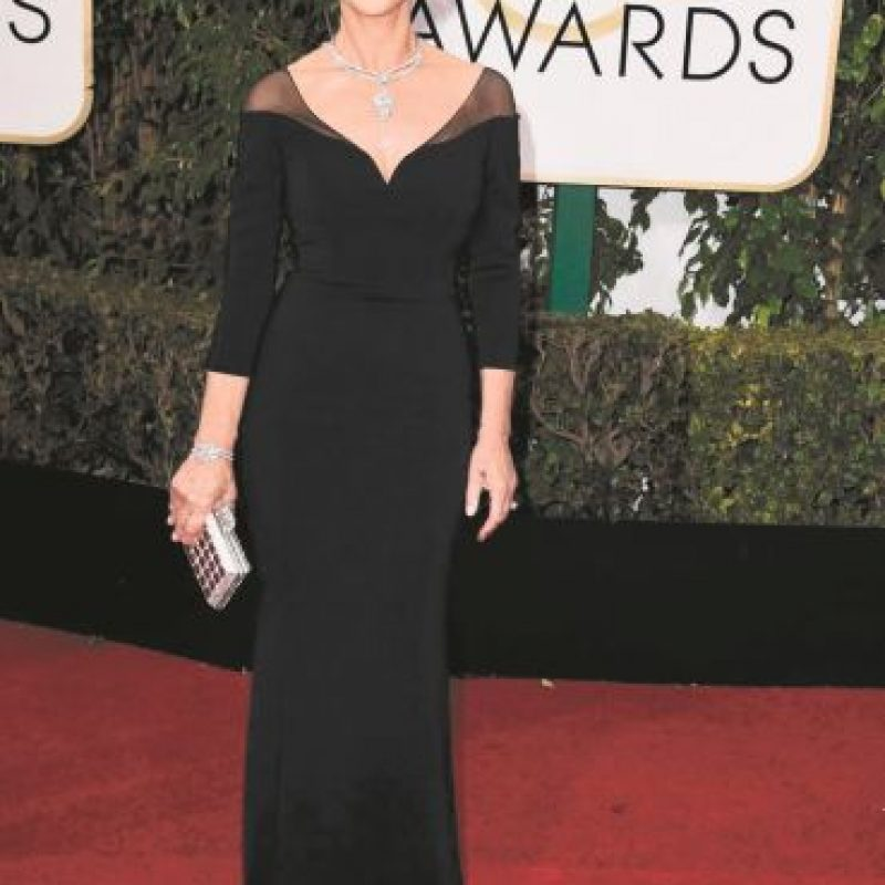La actriz de 70 años Helen Mirren lució fabulosa. F.E