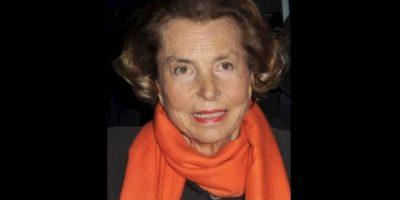 10. Liliane Bettencourt, 92 años. Su fortuna se valúa en 40 mil 100 millones de dólares Foto:Getty Images