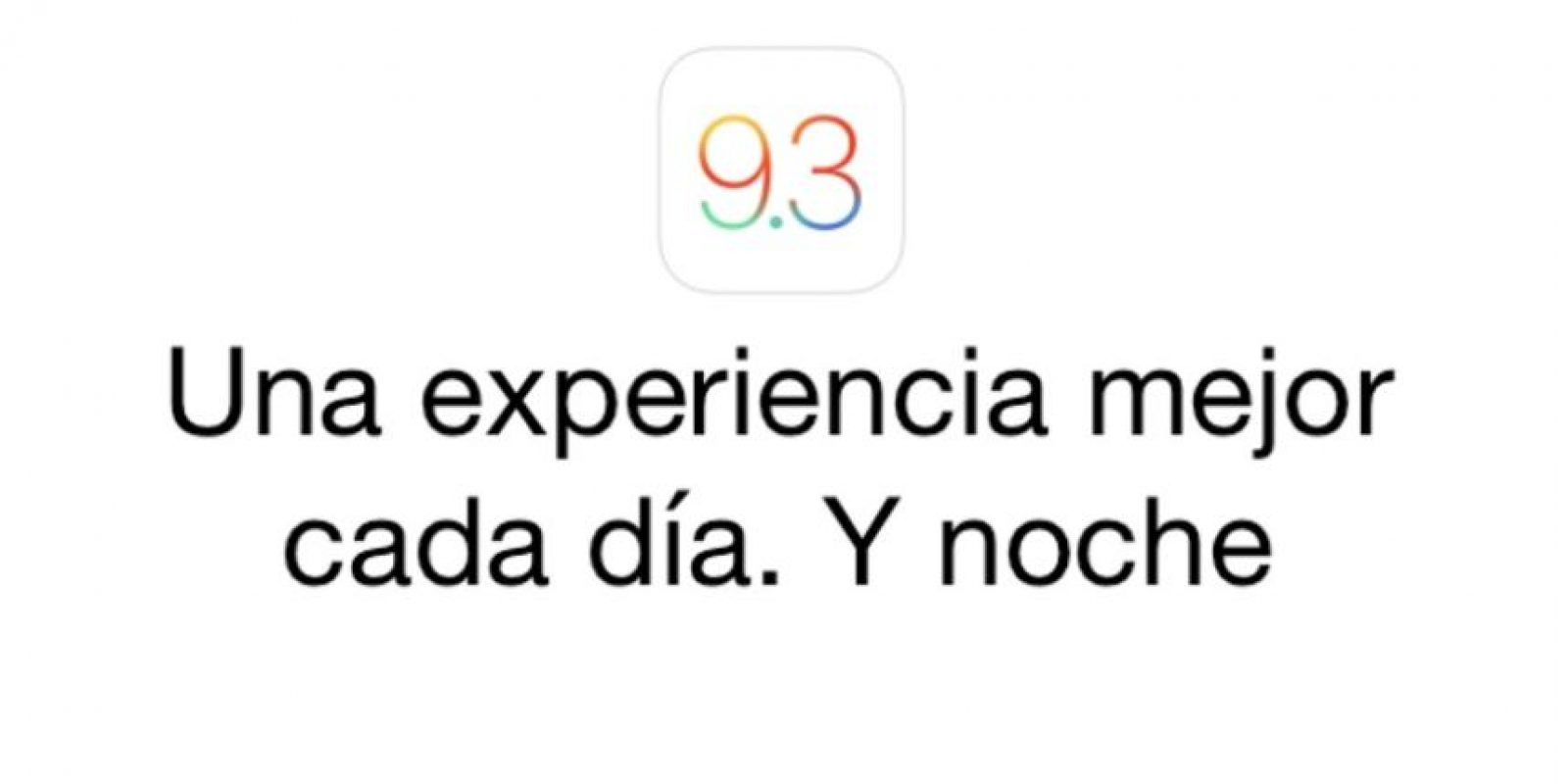 La versión BETA de iOS 9.3 ya está disponible. Foto: Apple