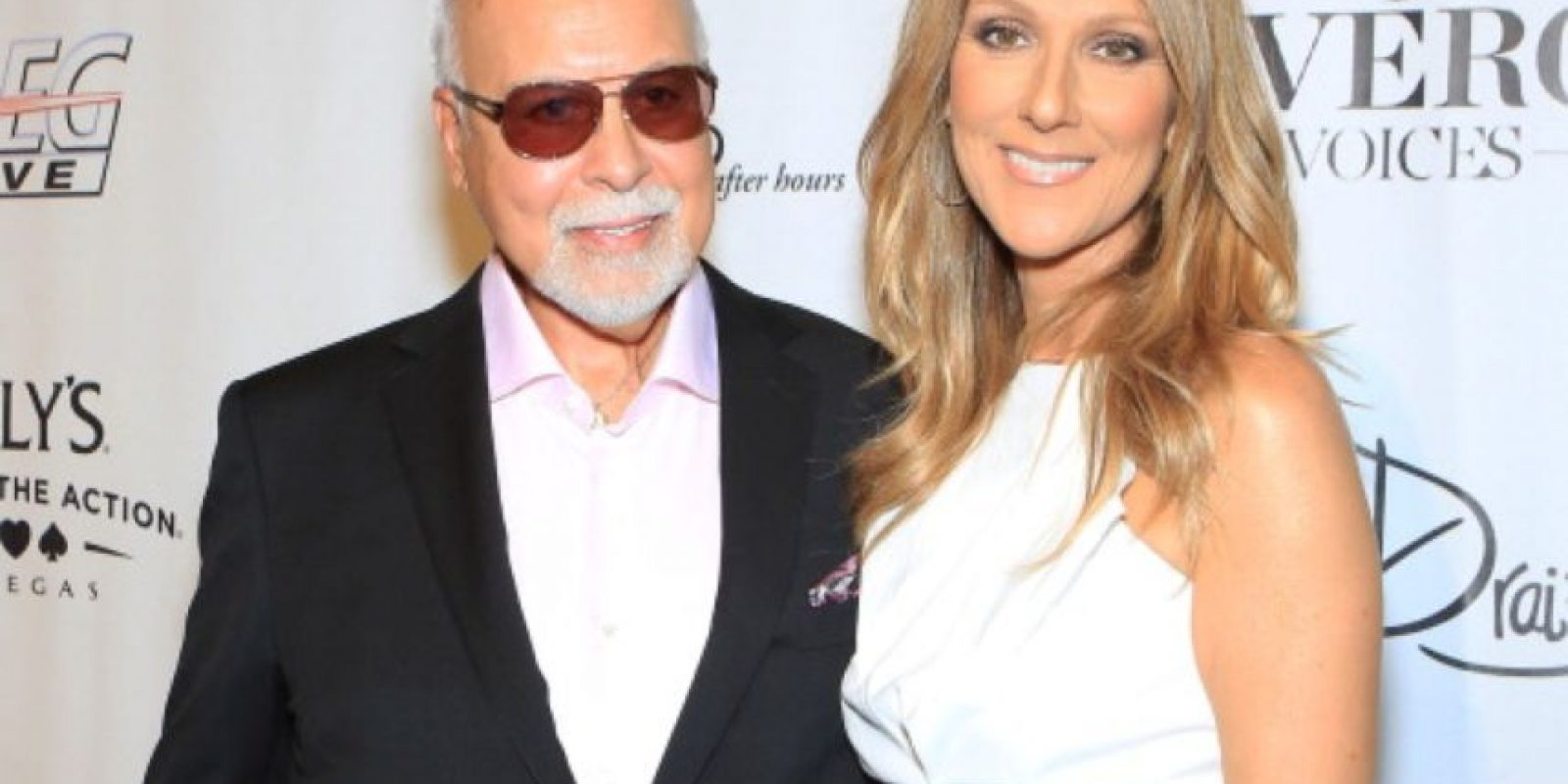 Años después, junto con su marido, René Angelil. Foto:vía Getty Images