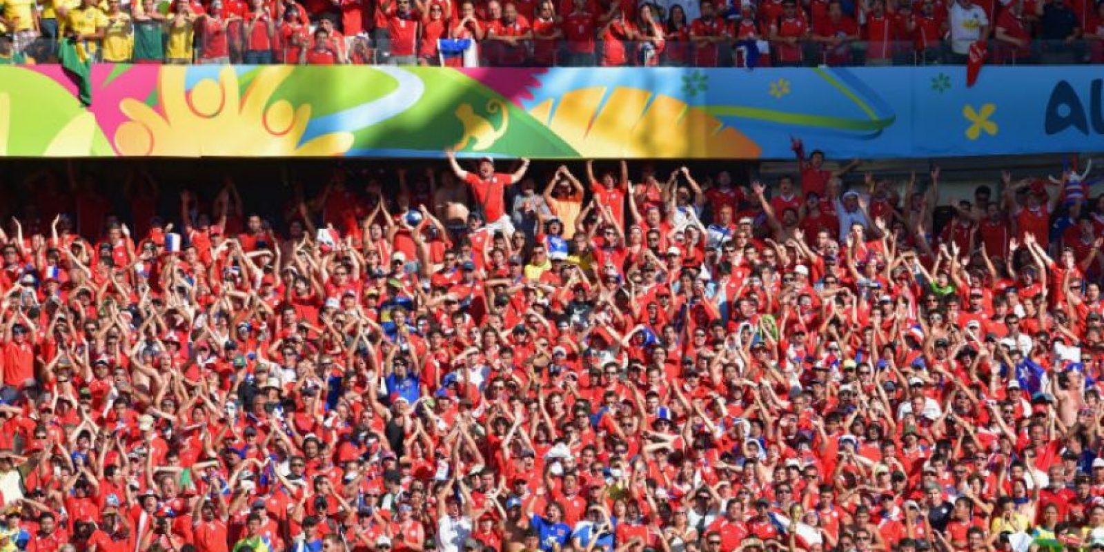 Como en el partido entre Chile y Uruguay, de la Copa América 2015 Foto:Getty Images