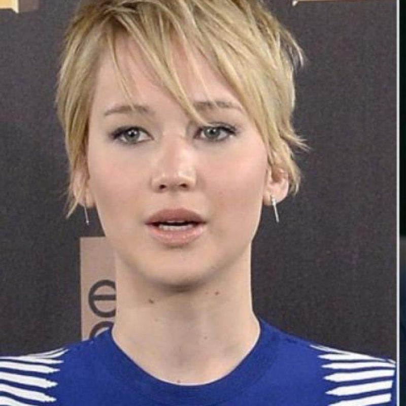 Jennifer Lawrence con un pixie desaliñado (si quieren ver un buen pixie, busquen el de Halle Berry). Foto:vía Getty Images