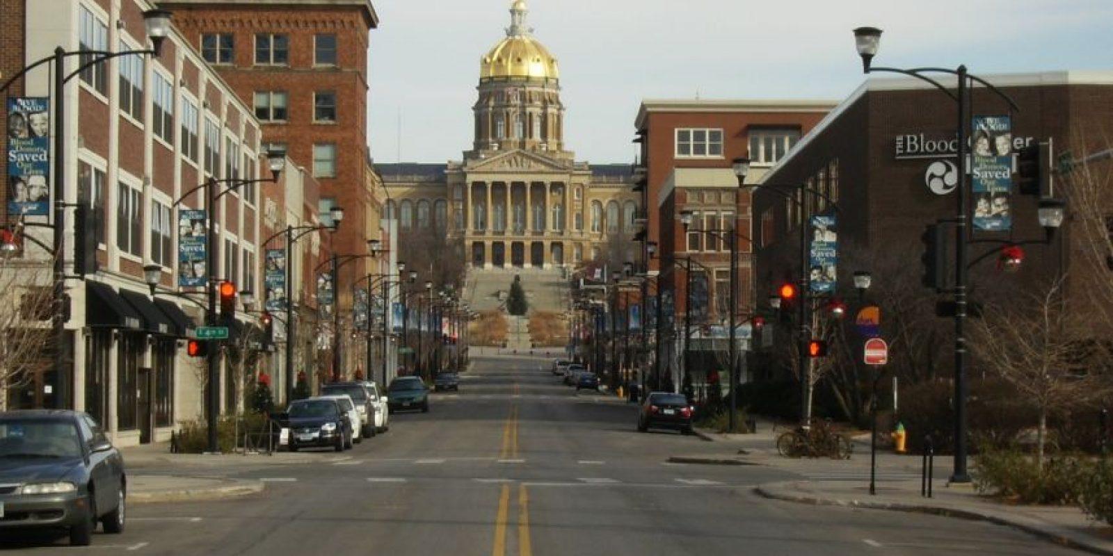 6. Des Moines, Iowa. El crecimiento de empleo es de 4.38 por ciento y un ingreso anual promedio de 50 mil 467 dólares. Foto:Wikipedia.org