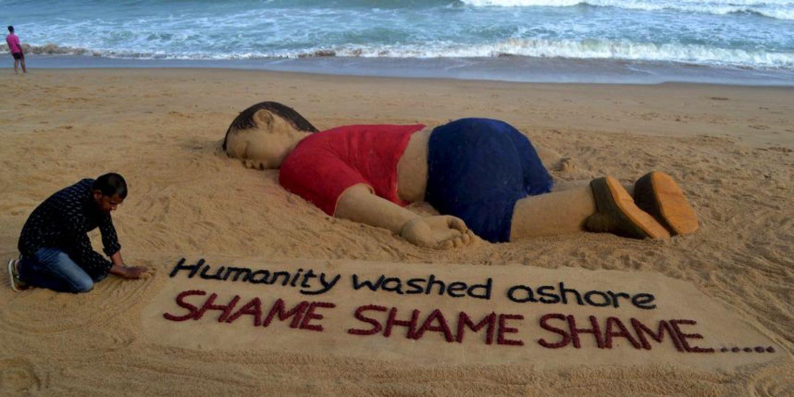 Su imagen se volvió un ícono de la crisis migratoria que se vivía en Europa Foto:AFP