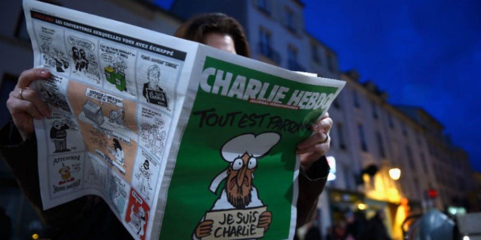 """El 7 de enero de 2015, """"Charlie Hebdo"""" sufrió un atentado que dejó como saldo 12 personas muertas. Foto:Getty Images"""