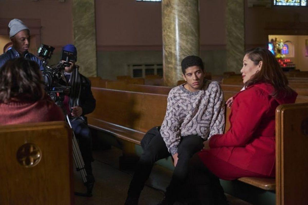 En el rodaje de la película El paisaje en la que ha trabajado. Foto:Fuente externa