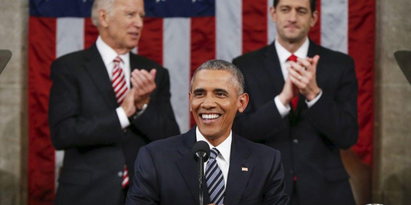 Así se le vió en su último discurso ante el Estado de la Unión. Foto:Getty Images
