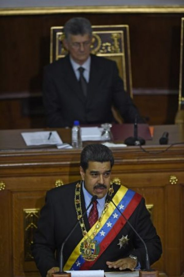 Nicolás Maduro dio su discurso anual Foto:AFP