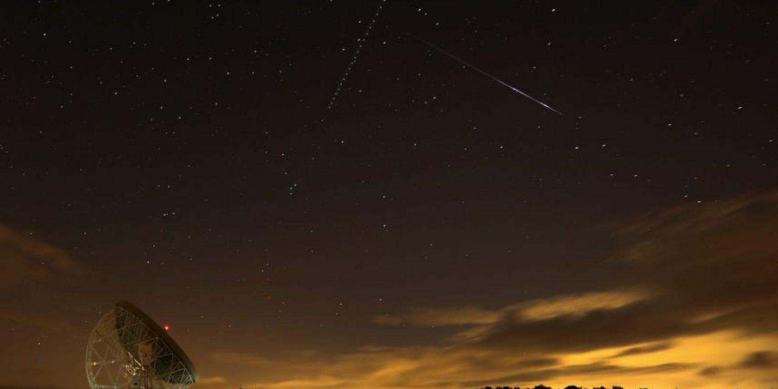 Lluvia de meteoritos registrada el 13 de agosto en Holmes Chapel, Reino Unido Foto:Getty Images