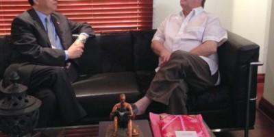 Expresidente Hipólito Mejía recibe a embajador de Taiwán