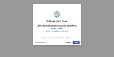 """Aceptan compartir su información cuando dan clic en """"Jugar"""". Foto:vía es.meaww.com"""