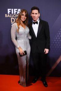 Antonella Roccuzzo robó cámara en la Gala del Balón de Oro Foto:Getty Images