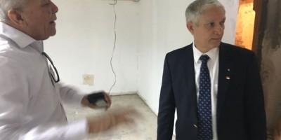 Puello supervisa trabajos en Estadio Quisqueya Juan Marichal