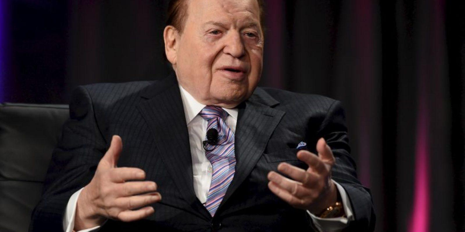 17. Sheldon Adelson. El magnate posee una fortuna de 31 mil 400 millones. Foto:Getty Images
