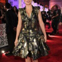 Sobre todo por el ancho de su torso. El vestido de McQueen, en el torso, está hecho para mujeres petite. Salma no llega a estas medidas.