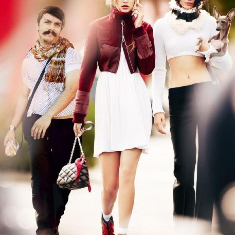 Aca, con Gigi Hadid y Kendall. Foto:vía Instagram/kirbyjenner