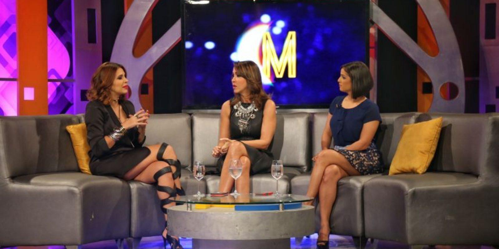 Pamela Sued en la entrevista que le realizó la comunicadora Mariasela Álvarez. Foto:Fuent externa