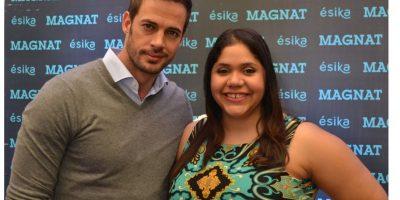 William Levy junto a la periodista de Metro RD, Claudia Fernández Soto