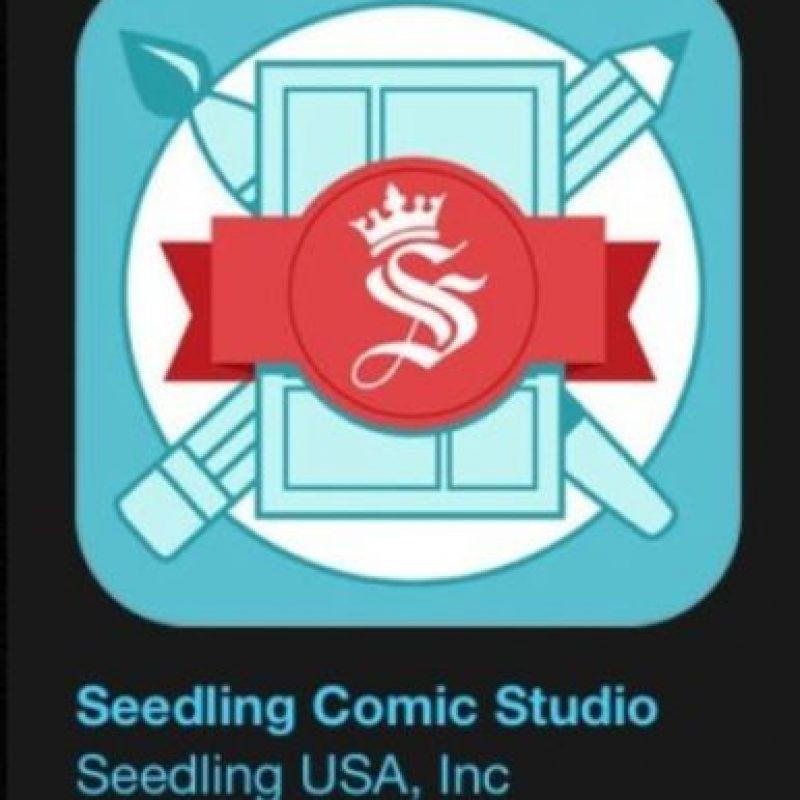 """23- """"Seedling Comic Studio"""". Es gratis. Creen y comparten su propio cómic. Mezclen sus propias fotos y calcomanías de temas como cómic, pixel, espacio y más. Foto:Apple"""