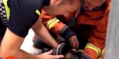 Carlos Arana y un grupo de bomberos llegaron a la ciudad de Sagunto en Valencia, España, para extinguir el fuego de una casa Foto:Facebook.com/BomberosdelConsorcioDeValencia