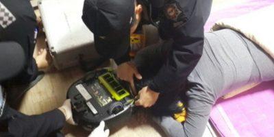 Mujer es atacada por su robot aspiradora Foto: Changwon Fire Service Headquarters