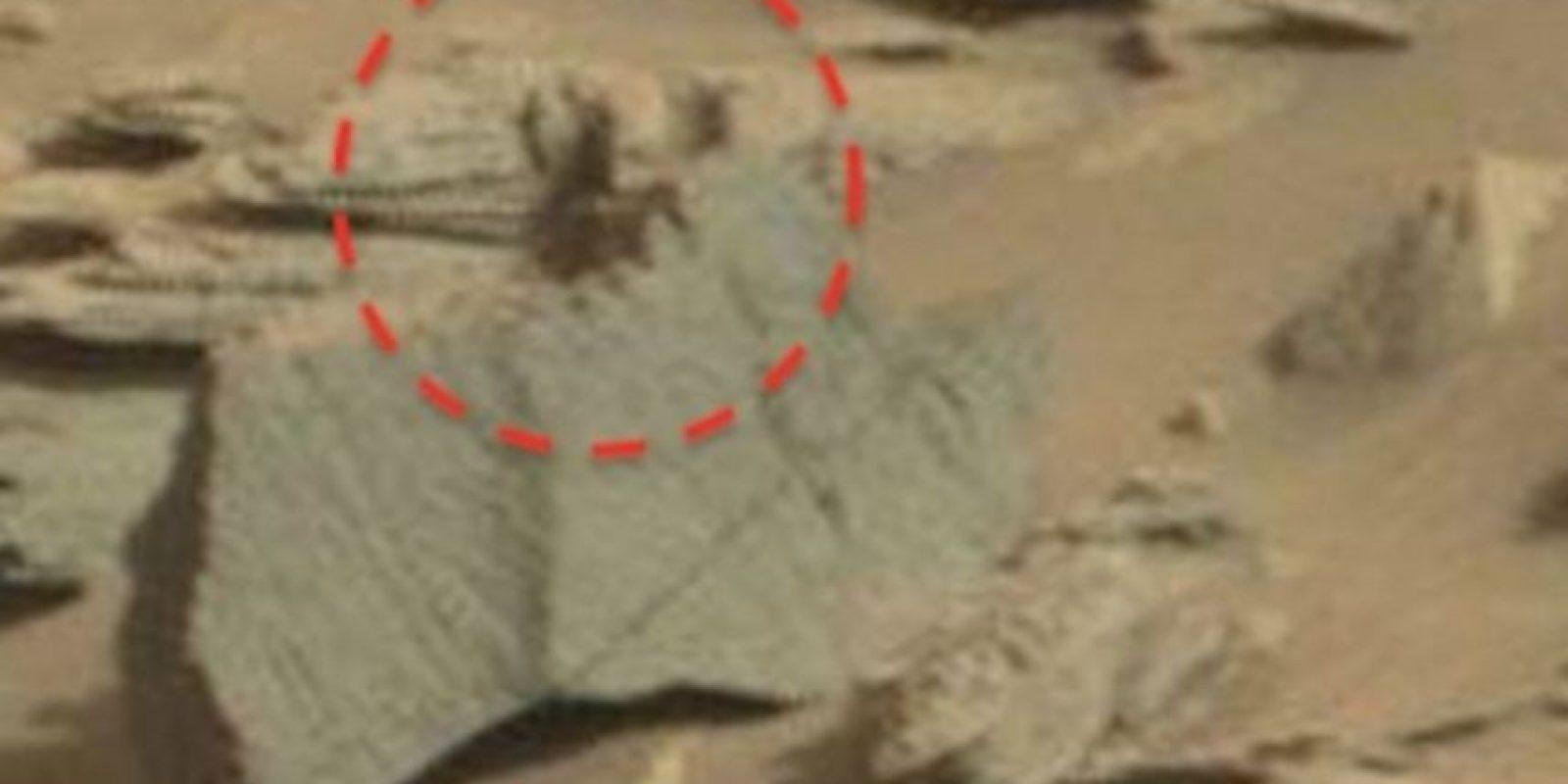 """Este es el supuesto """"escorpión alienígena"""" captado en Marte Foto:NASA"""