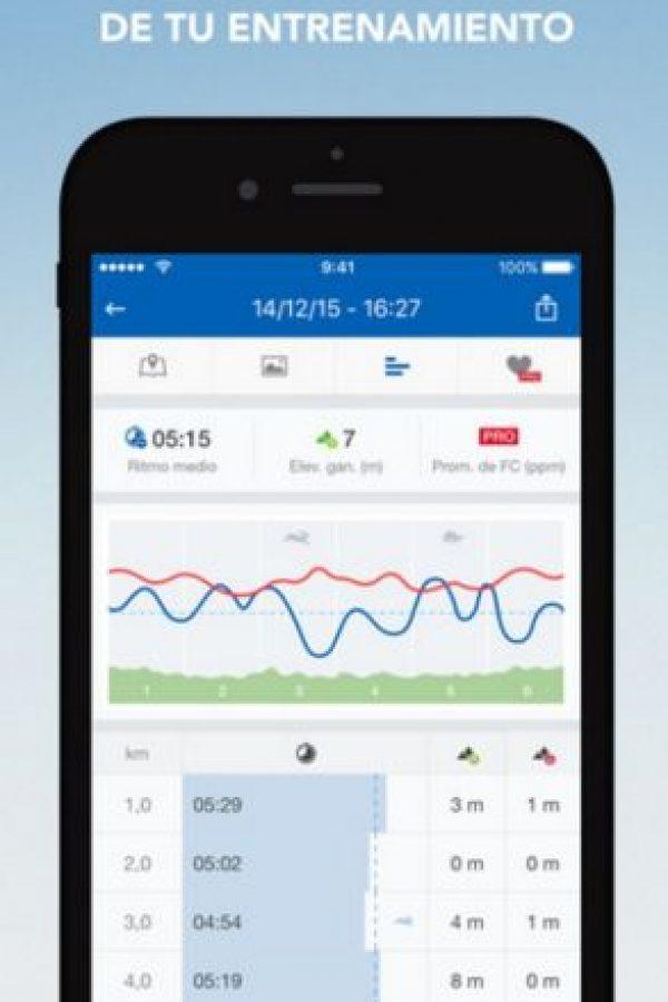 Disponible para iOS y Android. Foto:runtastic