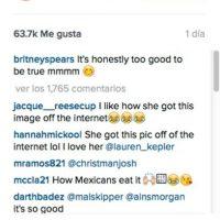 """""""Ella obtuvo esta foto de Internet"""". Foto:Vía Instagram/britneyspears"""