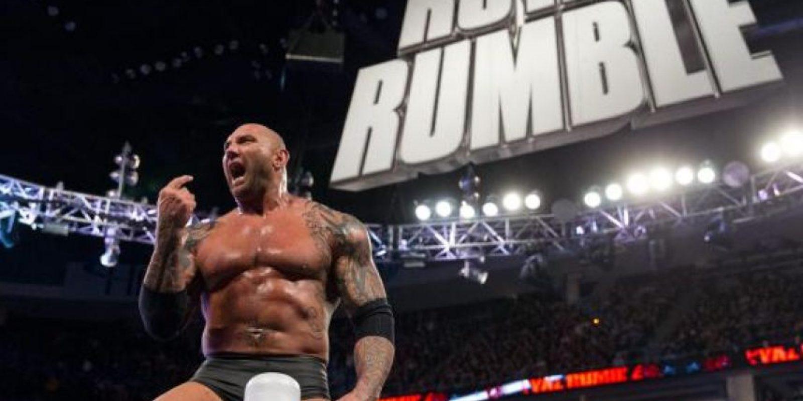 7. Batista es el único que ha ganado Royal Rumble en dos ocasiones (2008 y 2014) saliendo en el mismo número: 28 Foto:WWE